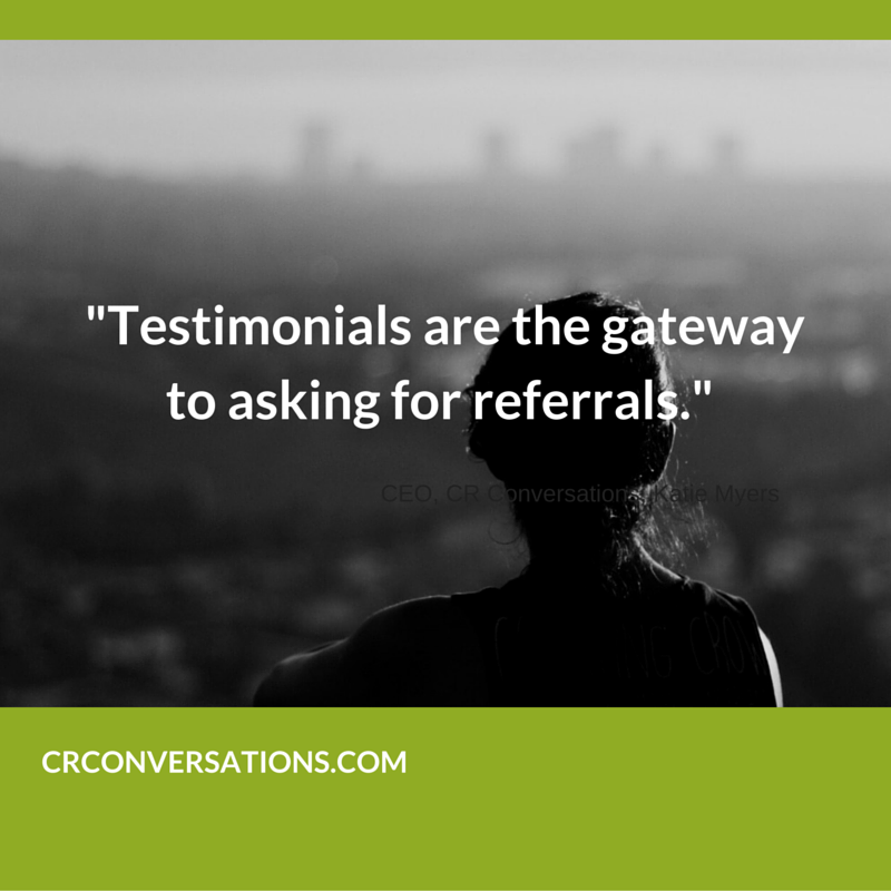 Do you become a weenie when asking for referrals?